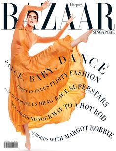 Hilary Rhoda on Harper's Bazaar Magazine Singapore October 2016 Cover