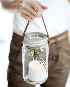 Mason Jar Lanterns. Check out the details