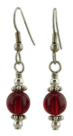 Unique Creations — Red Drop Earrings