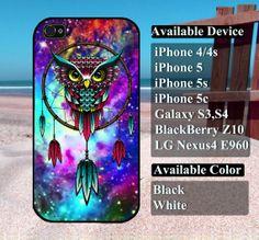 Dreamcatcher owl Galaxy Nebula case  iPhone 4/4s by vallenshop, $13.50