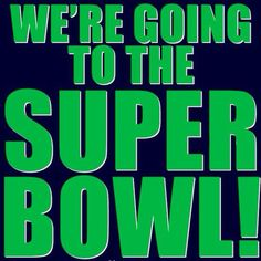 Seattle Seahawks are going to the Super Bowl 2015!! Tune in on Feb. 1 to watch the Seahawks kick the other team's ass!