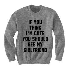 Boyfriend Girlfriend Shirt Sweatshirt Sweater Oversize Boyfriend Gifts... (£17) ❤ liked on Polyvore featuring tops, hoodies, sweatshirts, oversized shirt, over sized shirts, shirts & tops, boyfriend sweatshirt and sweatshirt hoodies