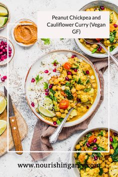A vegan, healthy 30-minute curry ready with any vegetables you have in your fridge. Packed with warming mild flavours and served with rice, this curry is wholesome, simple and great for meal prep. #vegan #healthy #dinnere #recipes #fod Vegetarian Curry, Vegan Curry, Lunches And Dinners, Meals, Peanut Curry, Best Curry, Coconut Milk Curry, Cauliflower Curry, Curry Dishes