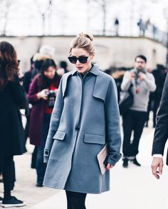 """www.clochet.com on Instagram: """"Olivia Palermo on her way to Valentino show earlier today @oliviapalermo"""""""