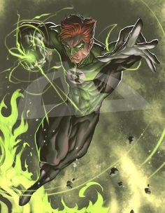 Green Lantern art commission by 16siddhartha.deviantart.com