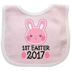 14ff3650c Inktastic Easter Bunny Rabbit Girls Pink Holiday Baby Bib Babys First Childs