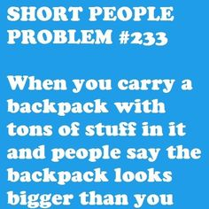 Short people problem #233