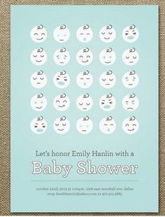 cute baby shower inviataion card