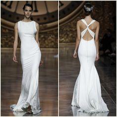 Pronovias barcelona bridal fashion week 2016 noiva minimalista