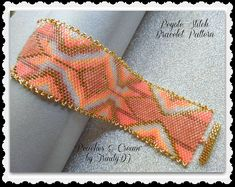 Peaches & Cream - ODD COUNT PEYOTE STITCH CUFF has been designed for the use of Delica seeds beads size 11. BRACELET PATTERN SPECIFICATIONS:  SKILL