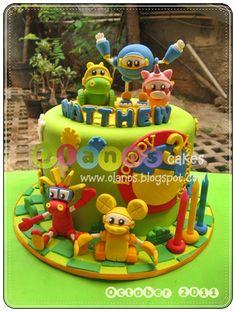 Olanos: Animal Mecanichal Birthday Cake for Matthew