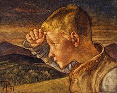 The Shepherd Boy by Phoebe Anna Traquair - print