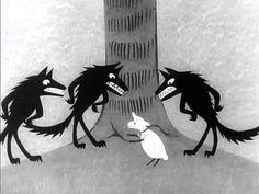 Pohádky ovčí babičky - O hloupém vlku a ještě hloupějším beránkovi (pohádky pro děti) - YouTube