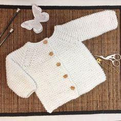 Patrón Y Tutorial De Chaqueta De Punto Para Bebé Paso A Paso, Chaqueta Duende 2017 Baby Sweater Patterns, Baby Cardigan Knitting Pattern, Baby Knitting Patterns, Baby Patterns, Free Knitting, Diy Crochet Cardigan, Knitted Baby Cardigan, Toddler Sweater, Baby Sweaters