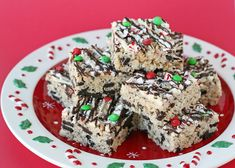 Peppermint Oreo Krispie Treats - by Glorious Treats - my kids will love these!