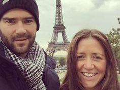 A honeymoon snapshot from Paris.