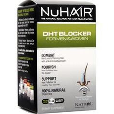 Save with better quality supplements! Buy 60-120 NU HAIR DHT Blocker for Men & Women 60 tabs Better Quality SaveUmore #NUHAIR