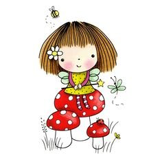 VK is the largest European social network with more than 100 million active users. Girl Cartoon, Cute Cartoon, Cute Images, Cute Pictures, Penny Black Karten, Penny Black Stamps, Cute Fairy, Cute Clipart, New Dolls