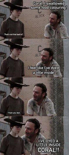 Rick dyed a little