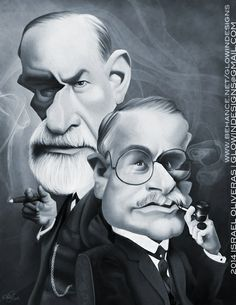Sigmund Freud and Carl Gustav Jung