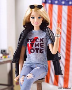 Election Day has arrived, so let your voice be heard! Cast your ballot and text 'Barbie' to RTVOTE to join our @rockthevote community!…
