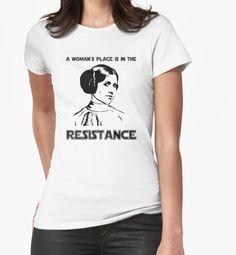 Carrie Fisher Princess Leia Star Wars Rebel Tee by HumaniTeez