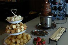 Chocolate fondue bar - Lingerie Shower!