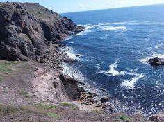Na procházce kolem Land's End někde mezi Whitesand Beach a Porthcurno