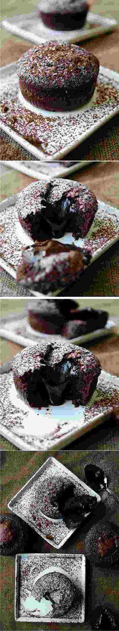 MOLTEN CHOCOLATE LAVA CAKE - butter, cake, chocolate, cocoa, dessert, egg, powder, recipes, sugar, sweet
