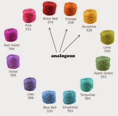 Selecting Yarns that Go Together (Analogous Colors)