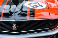 Mustang Images by Jill Reger - Images of Mustangs - 1970 Ford Mustang Boss 302 Grille Emblem