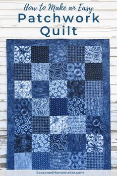 How to Make an Easy Patchwork Quilt. It's a great beginning quilt project. All you need is a stack of precuts and this free tutorial will show you how to quickly make a quilt. # patchwork quilts for beginners tutorials How to Make an Easy Patchwork Quilt Quilting For Beginners, Sewing Projects For Beginners, Quilting Tutorials, Quilting Projects, Quilting Designs, Sewing Tutorials, Diy Quilting, Small Quilt Projects, Free Tutorials