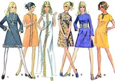 1960s Dress Pattern McCall's 2004 Mod A Line Day or by paneenjerez, $16.00