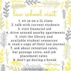 Choosing a Law School | brazenandbrunette.com
