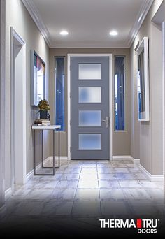 And a warm welcome to your new home! Exterior Doors, Entry Doors, Front Doors, Front Entry, Entry Furniture, Beautiful Bathrooms, Modern Bathrooms, Home Estimate, Bathroom Interior Design