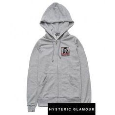 "Hysteric Glamour ""HG Pouch"" Hoodie (Gray) #hystericglamour #hoodie #streetwear #streetfashion #style #urbanwear #fashion"