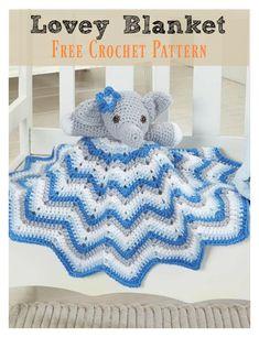Lovely Elephant Blanket Free Crochet Pattern