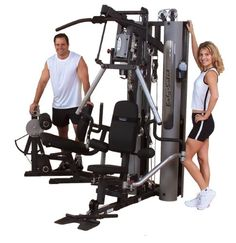 BodySolid G10B Bi-Angular Home Gym W/ GLP Leg Press 2-210 lb Weight Stacks NEW
