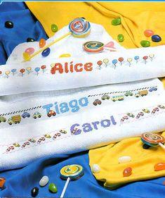 100%_ponto_cruz: Barrinhas coloridas para a criançada!