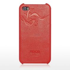 Leather Case For iPhone 4/4S, Luxury Leather Cases, Red Earl HOCO
