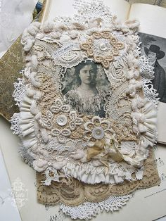 This is breath-taking! I LOVE lace, buttons and shades of beige.