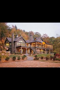 OMG! If you put this house in Montana or Wyoming on a large piece of land with a few barns, I'd buy it in a second. This house is absolutely stunning and probably costed a fortune! #dreamhouse