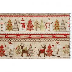 Holiday Stitches panel 30 * 113 cm - Materiale textile online
