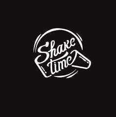 Shake Time by Tatiana Burdyugina via Behance Typography Letters, Typography Logo, Logo Branding, Branding Design, Lettering, Food Logo Design, Logo Food, Design Art, Coffee Shop Logo