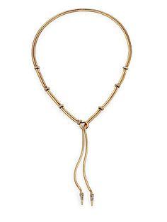 ABS by Allen Schwartz Jewelry Snake Chain Lariat Necklace