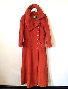 Vintage Early 1970s Authentic Biba Burnt Orange Cotton Faux Fur Collectible Coat | eBay