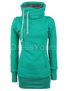 $ 66.99 Casual European Style Solid Color Slim Hoodie