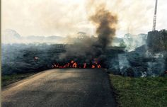 In this Oct. 24, 2014 photo from the U.S. Geological Survey, the lava flow from Kilauea Volcano that... - AP Photo/U.S. Geological Survey
