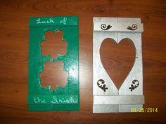 Shamrocks and heart wall hangers