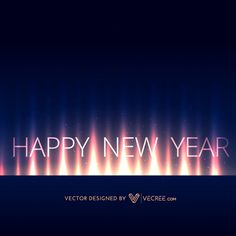 Creative Happy New Year 2015 Design Free Vector #vecree #christmas